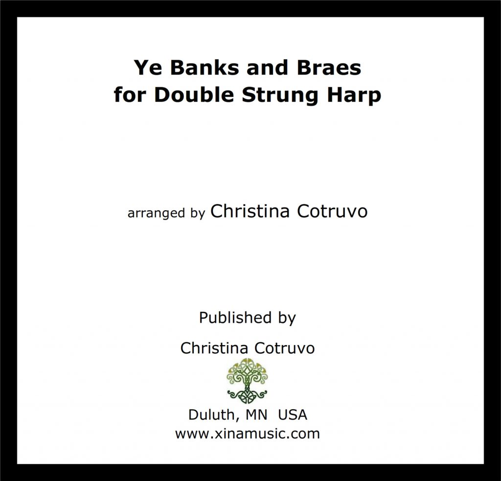 Ye Banks and Braes for Double Strung Harp